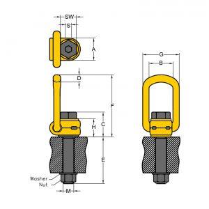 Lastbock LBO techn. Zeichnung