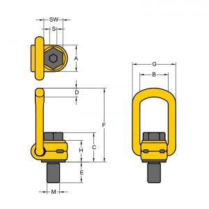 Wirbelbock YOKE technische Zeichnung